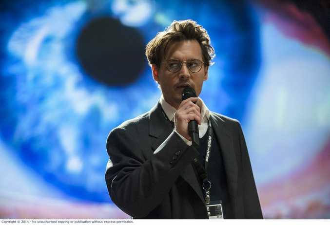 Johnny Depp in Transcendence.