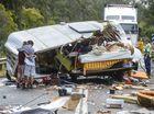 Wet weather crash leaves caravan home destroyed