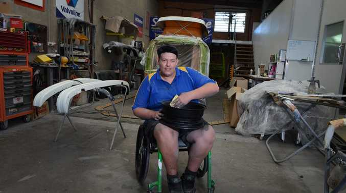Kurt Balzer, who took part in the disability employment program now works at North Ballina Smash Repairs.