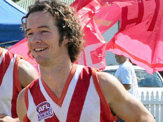 Nicholas Heyward pictured during his time as a 'rising talent' at the Lismore Swans.