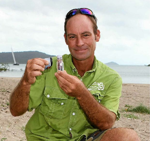 FASCINATING FIND: Local tour guide Craig Watson found a message in a bottle in the mangroves at Cannonvale Beach.
