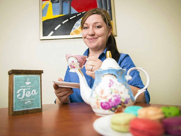 Jessika Johnson makes sure things are in order for her Biggest Morning Tea event on Saturday, May 10.
