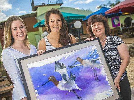 BIRD LOVERS: Gabby McCray, Julia Imarissio and Coleen McCray.