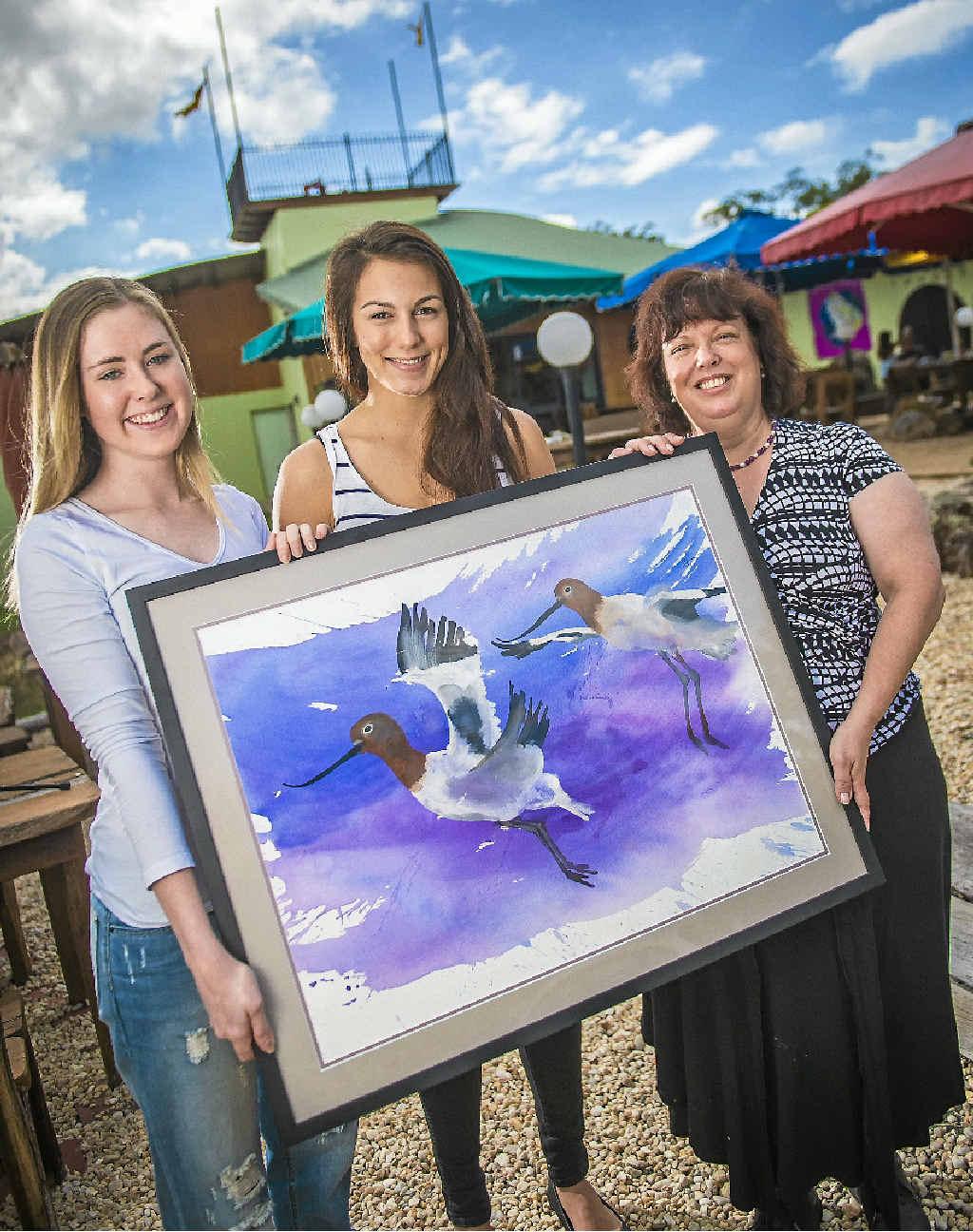 BIRD LOVERS: Gabby McCray, Julia Imarissio and Coleen McCray.