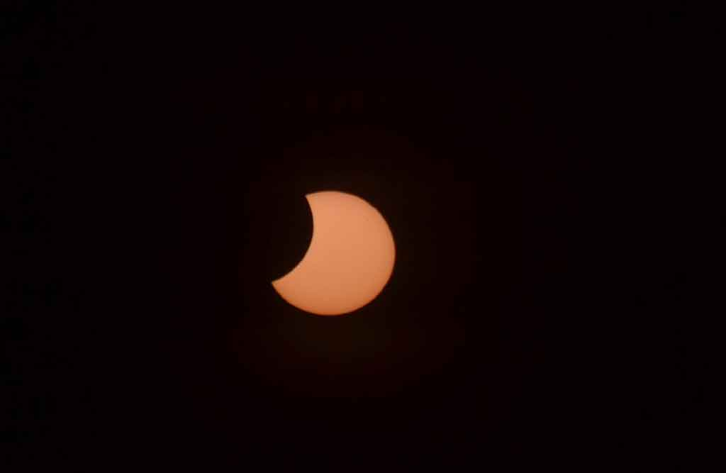 Marita Hills' photo of yesterday's ring of fire eclipse.