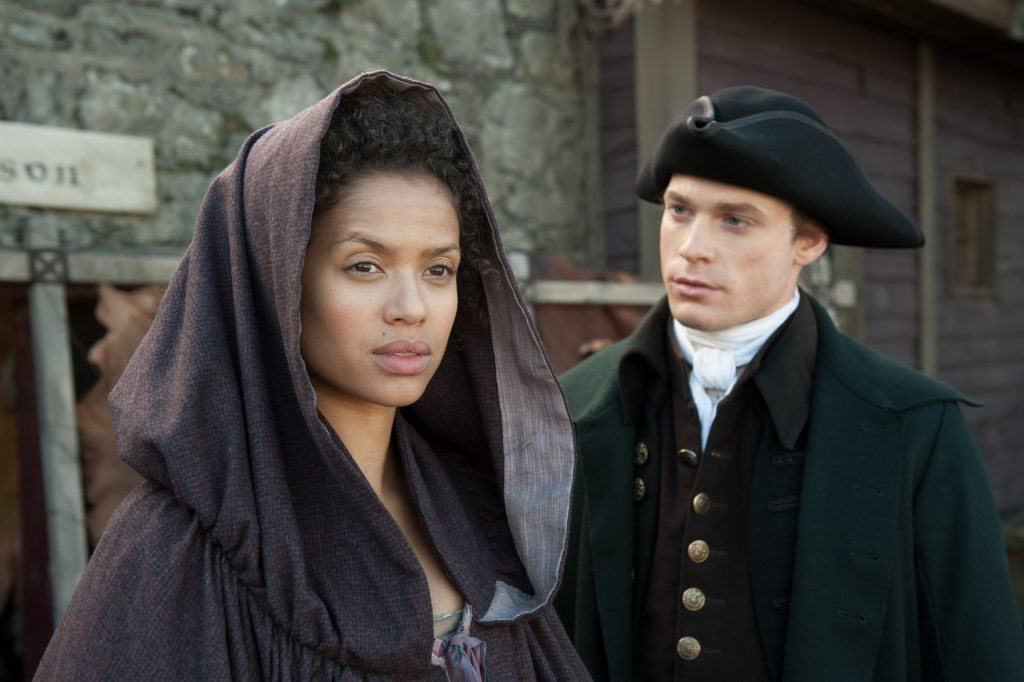 Gugu Mbatha-Raw and Sam Reid in Belle.