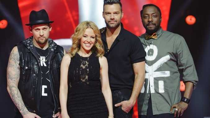 The Voice Australia's 2014 coaches: Joel Madden, Kylie Minogue, Ricky Martin and will.i.am.
