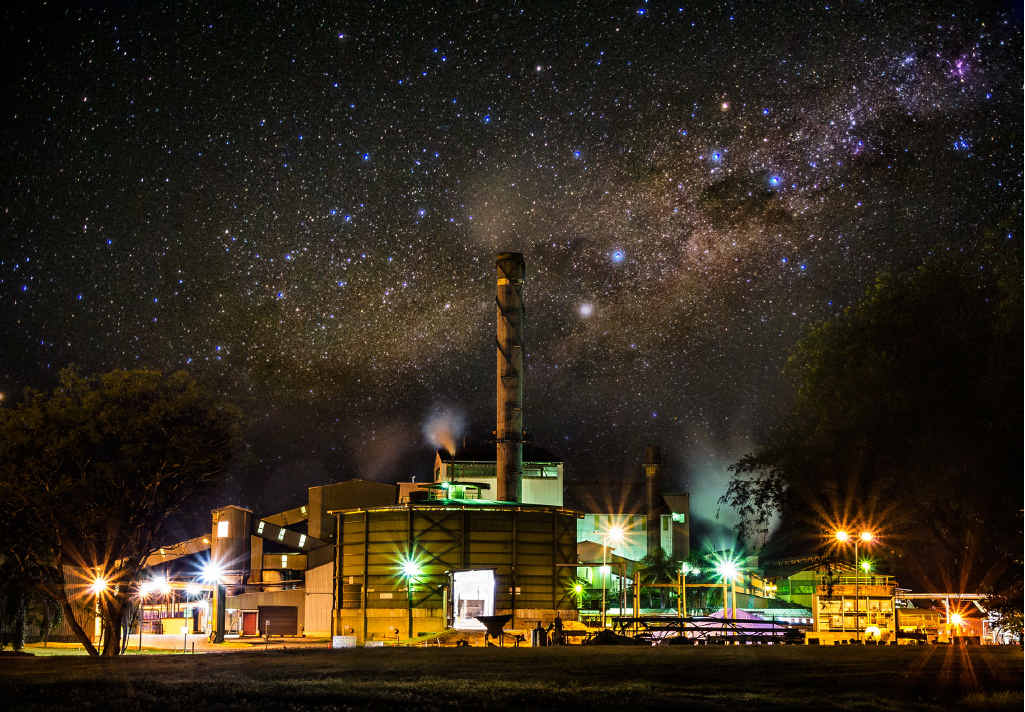 STARRY NIGHT: The Harwood Mill under a night sky captured with some digital wizardry from local photographer Jeremy Billett.