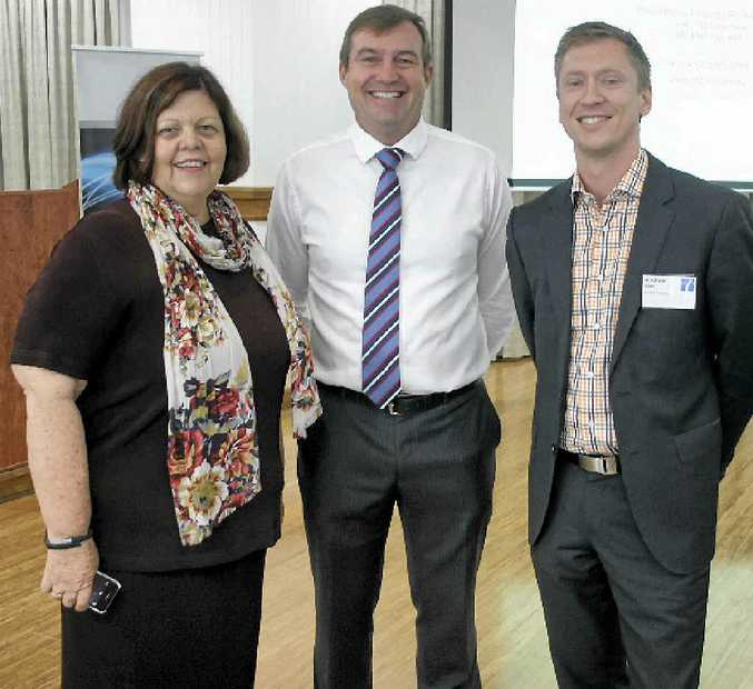 Mayor Gail Sellers, Matthew Gross and Andrew Allen at the UDIA Breakfast.