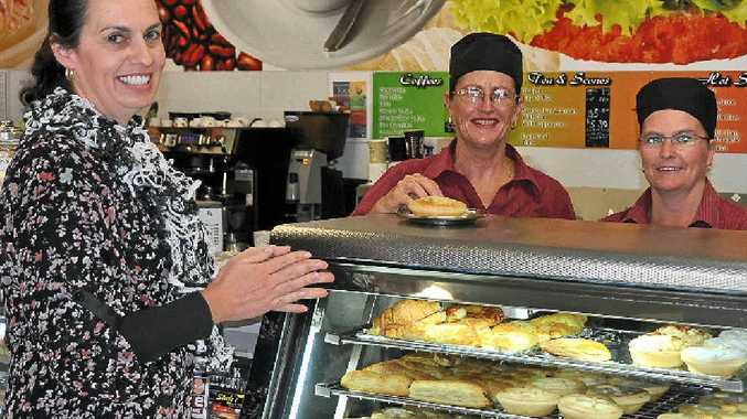 Rebecca Albrand, Bev Duke and Julie Fitzgerald are already keeping warm at Steele's Bakery as the cold temperatures set in this week.
