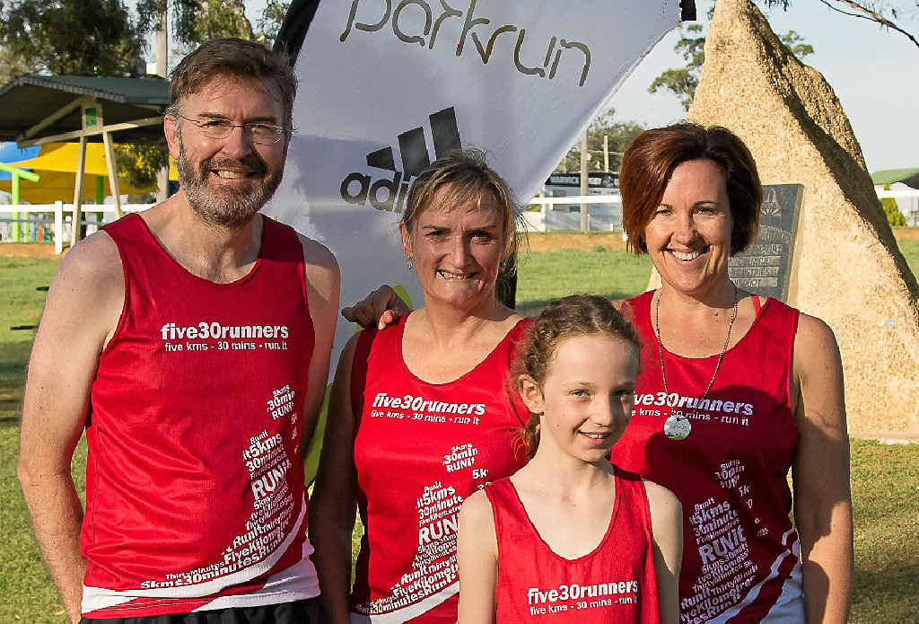 GO: five30 runners Peter Pohlman, Linda Coombes, Sonja Pohlman and Eliana Jones will compete in the May 24-25 Pentath-run in the Warwick, Killarney, Yangan, Sandy Creek and Allora areas.