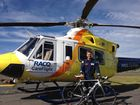 RACQ Careflight paramedic Brad Solomon is ready to go ahead of the May 4 260km Base to Base Cycle Challenge Photo Contributed