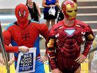 ACTION ADVENTURE: Spider-Man and Iron Man visited Caneland Central to promote Free Comic Book Day.