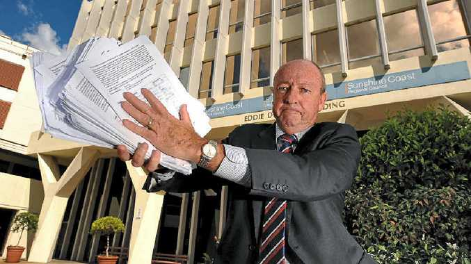 BIG NUMBERS: Waste Recycling Industry CEO Rick Ralph with his commercial garbage collection petition.