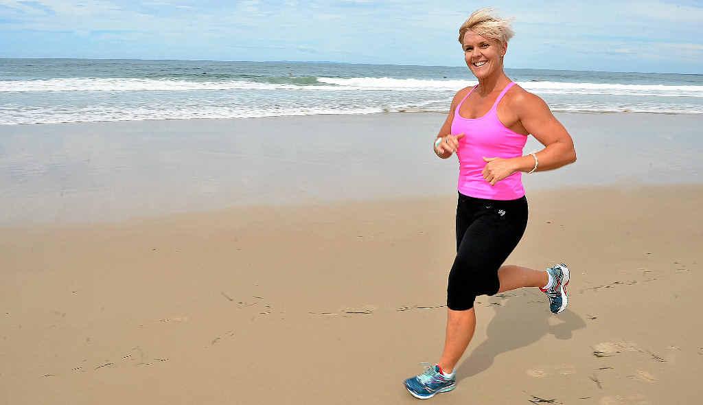 READY FOR LONG RUN: Andrea Skews is preparing for her ultra marathon charity run along the 517km Birdsville Track.