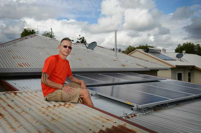 Reiner Becker, of East Lismore, had some solar panel installed on his house.