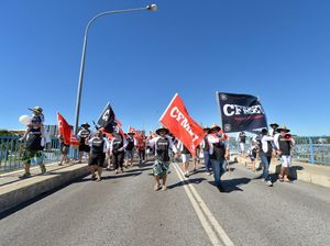 Thousands march to observe traditional Labour Day date