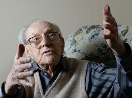 LAUGHTER IS KEY: Ipswich man Rupert Cliff will be 105 next week.