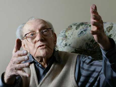 LAUGHTER IS KEY: Ipswich man Rupert Cliff will be 105 next week.
