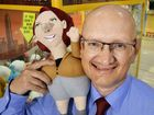 TAKE YOUR PICK: Federal Member for Blair Shayne Neumann with the Julia Gillard doll available to win in Ipswich Riverlink.