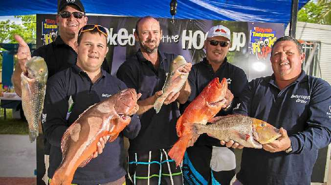 The Inceptor crew show off their catches from the weekend's Boyne Tannum HookUp.