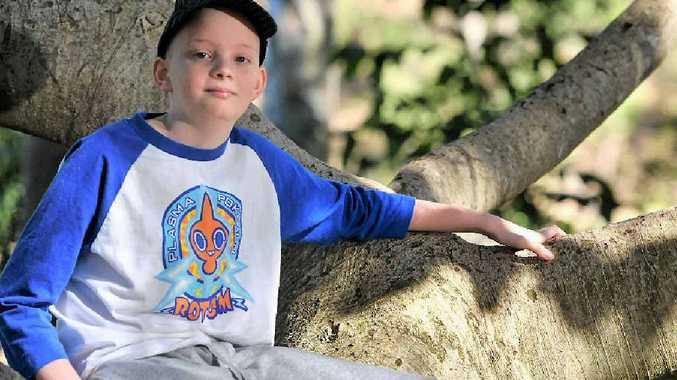 FIGHTER: Mitchell Luders, 12, is the first Kid of Spirit for 2014.