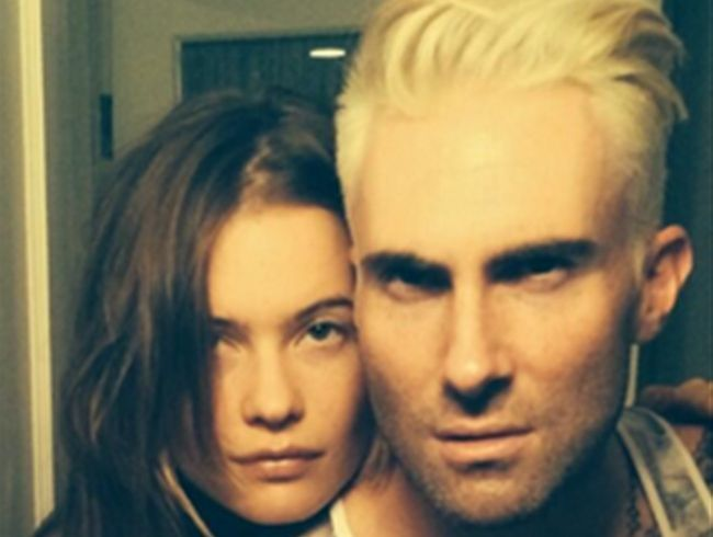Adam Levine and Behati Prinsloo (c) Twitter