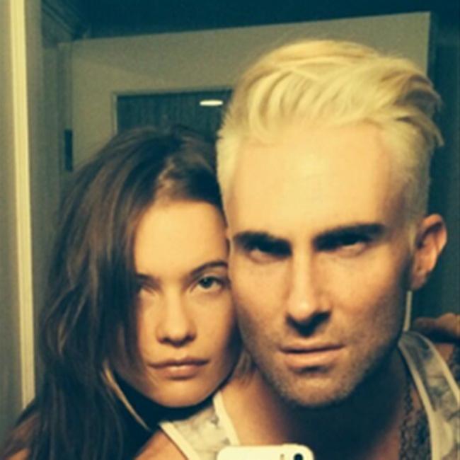 Adam Levine and Behati Prinsloo (c) Twitter