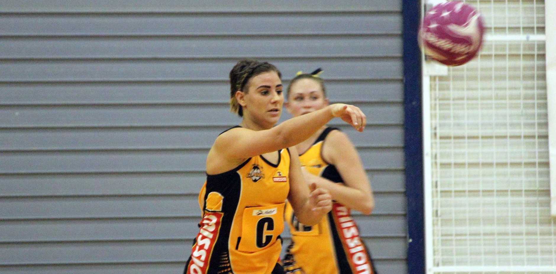 Gladstone product Ella Lawrie in action.