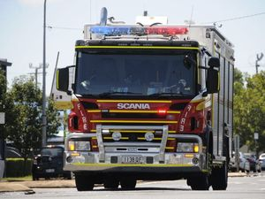 Reports of a vehicle on fire in a shed on Emu Park Rd