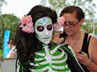 Australian Body Art Carnivale./ Eumundi Markets. Gabriella models for artist Rachel Casanelia. Photo Geoff Potter / Noosa News