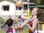 Courteney Watson spies another pass for her Daleys Diamonds side during the latest Lismore Netball Association action.