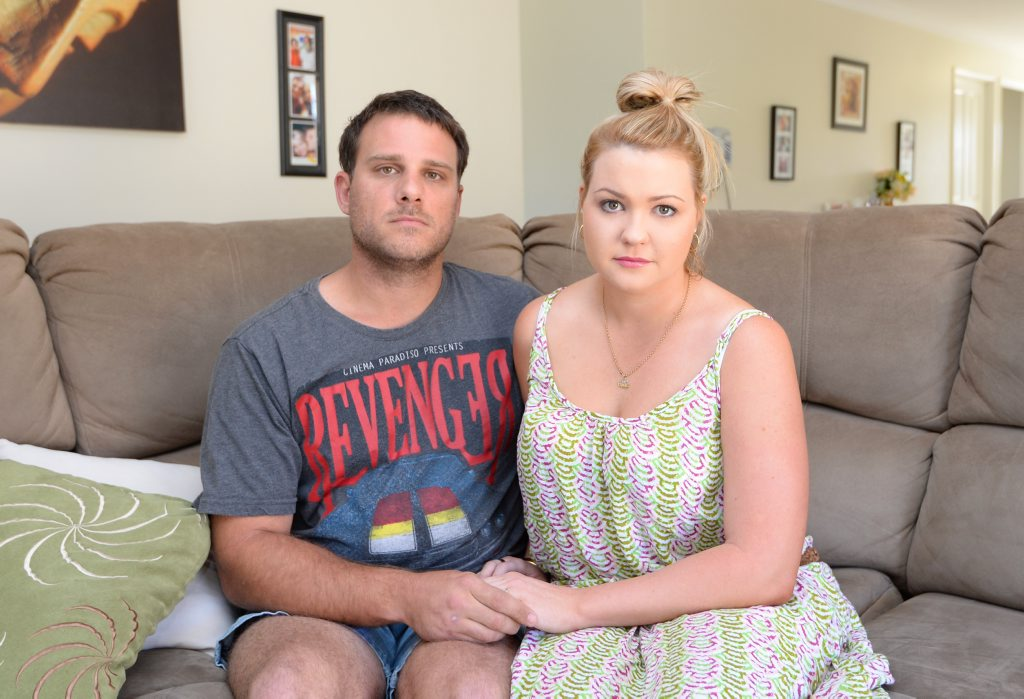 Darryl and Natalie Yarrow are disappointed with their wedding reception held held at the Heritage Village. Photo: Chris Ison / The Morning Bulletin
