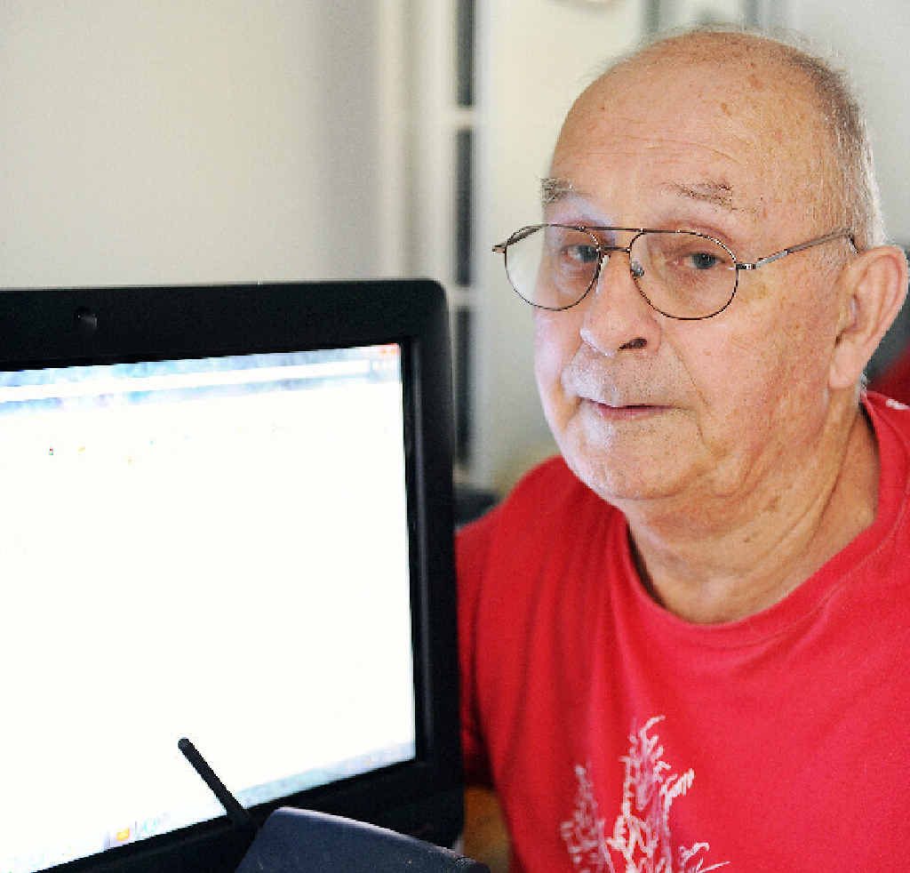 Left without an internet connection, Hervey Bay's John Parsons was told ONEseniors broadband service provider was in liquidation.