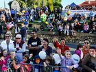 FLOAT AWAY: The View of the 2014 Ipswich Festival parade outside St Paul's church.
