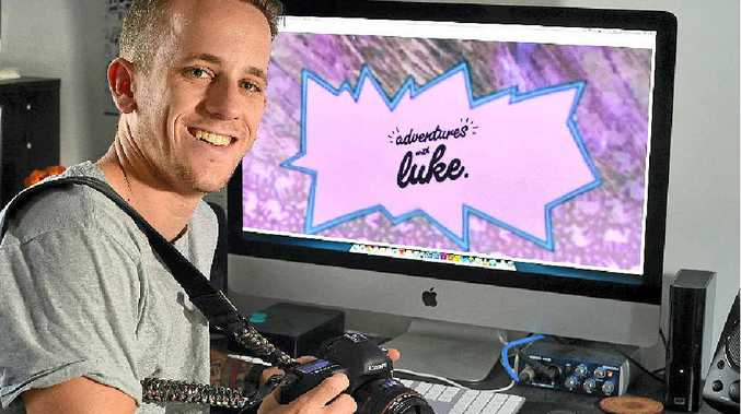 RISK-TAKER: Graphic designer Luke Middleton has penned a job application with a difference.