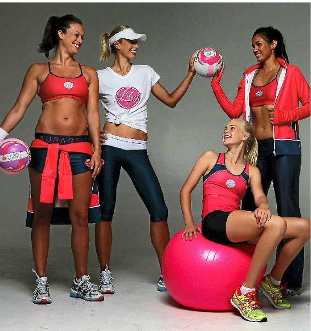 LEFT: Models in the Laura Geitz Netball Factory.