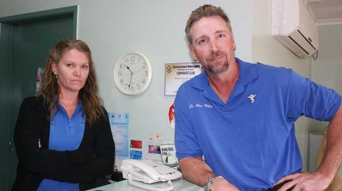 Office Manager Susan Elliott and Dr Charles Miles Photo Rebecca Hafner / Central Telegraph