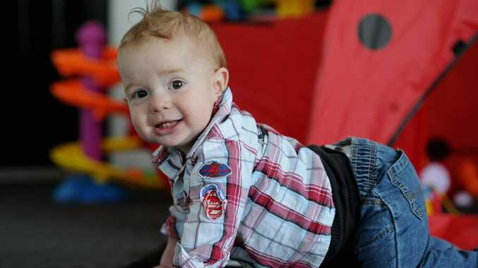 Bryden Howley, 1, was born with severe haemophilia A.