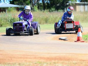 66-year-old continues to mow down the field of racers