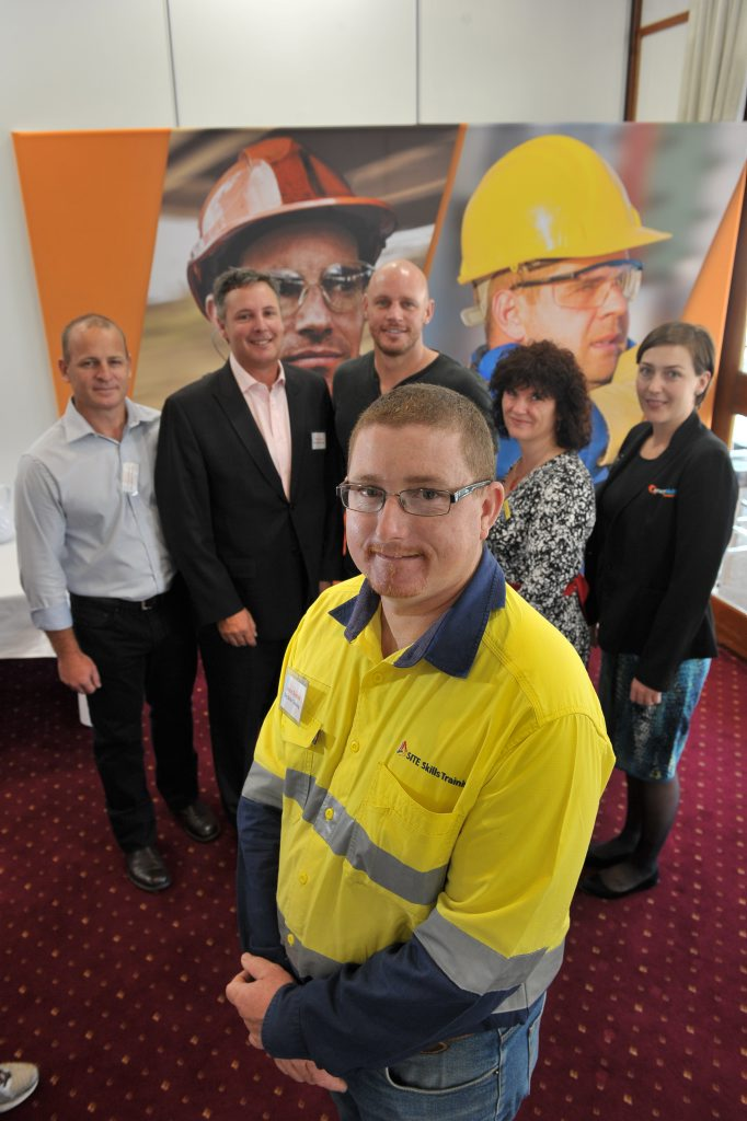 FUTURE TRAINING: Site Skills Training Gladstone operations manager Jason Buxton will look at training for the future, with Chris Gittens and Shaun Scott also from SST, guest speaker Paul de Gelder, Kaylene Ascough from Construction Skills Queensland and Anthea Middleton from Energy Skills Queensland.