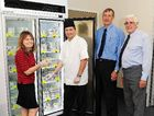Meals on Wheels Fraser Community has received a freezer from the Mundubbera-Burnett Freemasons Lodge. MOW's Avis Cropley, head chef Carl Frost and Freemasons Peter Keller and Barry Law check out the new freezer.