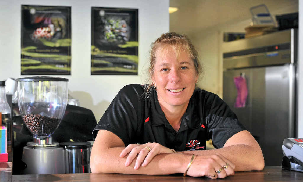BUSY TIME: Savour the Flavour at the Gardens manager Janelle Noonan.