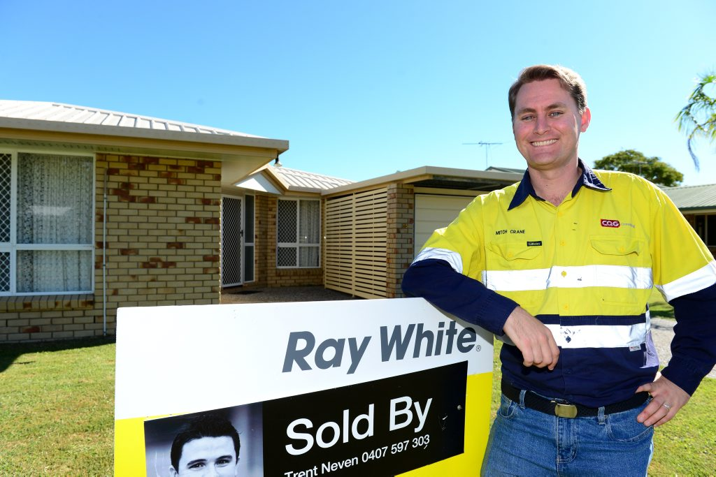 Mitch Crane has purchased his first home, in North Rockhampton. Photo Sharyn O'Neill / The Morning Bulletin