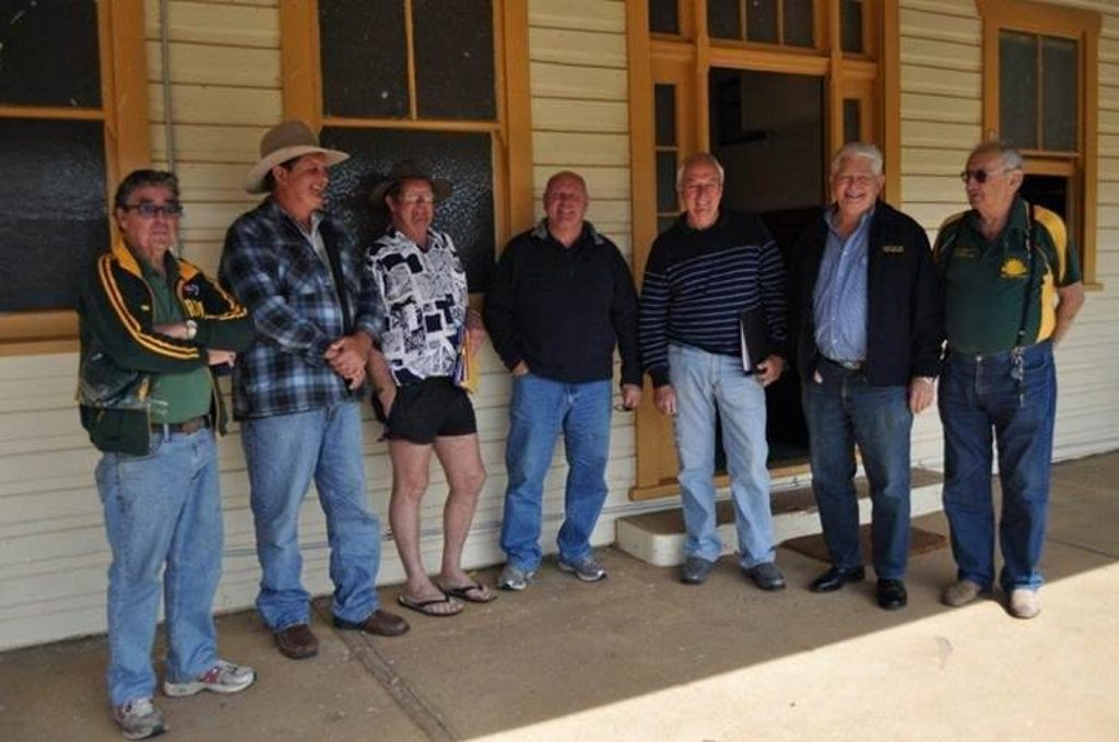 The Copmanhurst Lighthorse Reenactment Committee Brian Bultitude, Ted Brown, Fred Norris, Alan Ryall, Denis Benfield, David Morgan and Kevan Hutchinson. Photo Kathleen Davies / Contributed NO RESALE