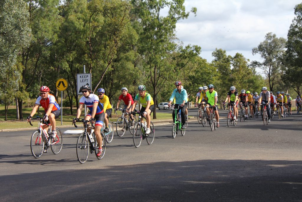 More than 50 cyclists rode a short circuit around the UQ Gatton campus in a special tribute for Dr Martin Pearson. Photo Tom Threadingham / Gatton Star