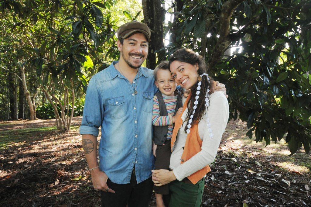 The Voice contestant Dallas James, son Tashi James 2, and partner Ingrid Pullen.