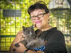 FURRY FRIEND: Anita Coad, of Friends of the RSPCA, with one of the cats available for adoption.