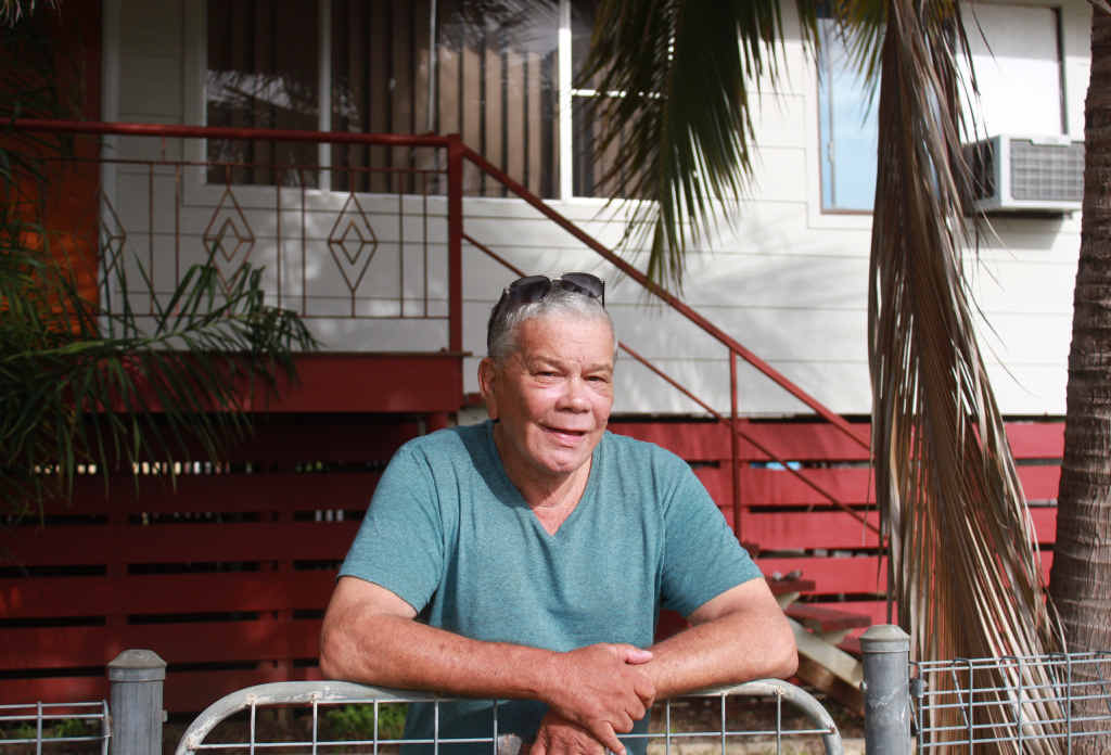 IN FAVOUR: Depot Hill resident Angus Gooda supports the proposed South Rockhampton flood levee.