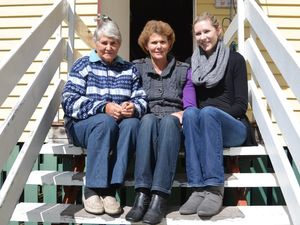 Three generations sit back and reflect for Mother's Day